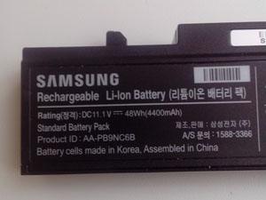 Парт номер аккумулятора ноутбука Samsung